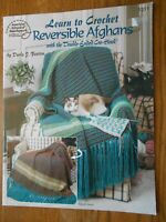 Learn to Crochet REVERSIBLE AFGHANS Double-Ended CRO-HOOK Pattern Book
