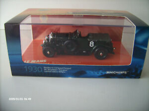 BENTLEY 4 ½ Litre Supercharged #8 LeMans 1930 MINICHAMPS 1:43 #403139534 in OVP