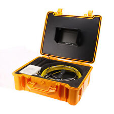 """7"""" Screen 20M Sewer Camera Pipe Pipeline Drain Video Inspection System 12pcs LED"""