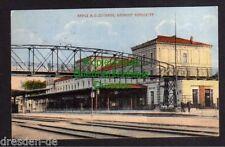 119542 AK Kreuz an der Ostbahn Bahnhof Gleisseite 1917 Brücke für Fußgänger