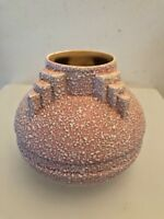 vase boule art Deco, craquelé, crispé rose ancien