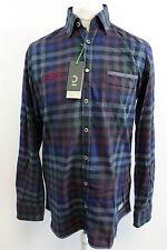 Calamar Checked Shirt Blue / Purple Mens Size Large box7496 C