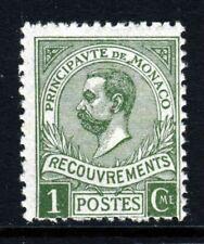 MONACO 1910 1 Cent Olive POSTAGE DUE SG D36 MINT