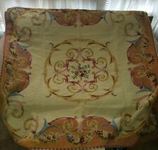 """Beautiful Victorian Roses Tapestry Square Tablecloth Goblys Made In France 58"""""""