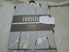 "Croscill NATASHA Floral Shower Curtain 72""x72"" Grey, White, Beige, Gold, Green"
