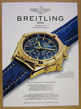 1993 Breitling Chrono Cockpit Chronograph watch photo vintage print Ad