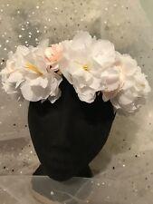 New Handmade Blush Delicate Flower Wreath Wedding Bride  Headpiece Crown Hat