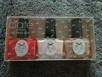 BNIB Ciate London The Pinks Box of 3 Mini Nail Polish Red Cream and Pink Set