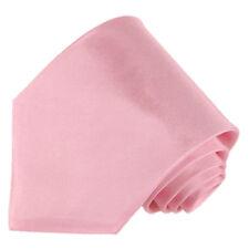 Men's 100% silk solid rose pink color tie