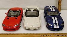 Burago 1:18 1997 Chevrolet Corvette CS Dodge Viper GTS Coupe Viper RT/10 Sweet!