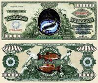 POISSON  BILLET MILLION DOLLAR US ! SIGNE ASTROLOGIQUE ASTROLOGIE ZODIAQUE ASTRO