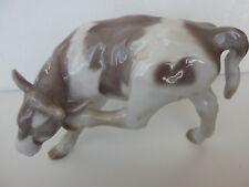 1826 VINTAGE BING GRONDAHL LARGE FIGURINE FARM COW CALF SCRATCHING EAR
