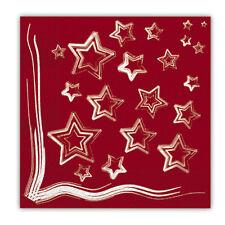 TOVAGLIOLI CARTA STELLA ROSSA 33X33 FESTA PARTY NATALE CAPODANNO RED STAR 30159