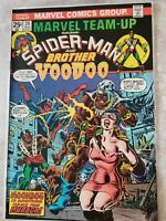 MARVEL TEAM UP SPIDERMAN & VOODOO 1974 BRONZE PRIV COLLECTION SLEEVED & BOARDED