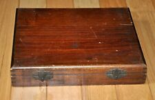 Vintage Clay-Adams 100 Microscope Slide Box, No. A-1601/X, Finger Jointed Wood