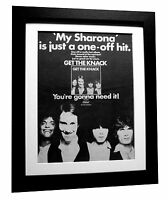 THE KNACK+Get The+Sharona+POSTER+AD+RARE ORIGINAL 1979+FRAMED+FAST GLOBAL SHIP