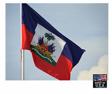 Haiti Haitian 3x5 Ft Heavy Duty Super-Poly Indoor/Outdoor Flag Banner*Usa Made