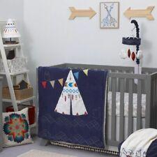NoJo Teepee 4 Piece Newborn Baby Boy Crib Bedding set Southwestern Tribal