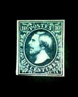 Luxembourg 1852.,-10c Black, $26500.Replica