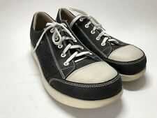Finn Comfort Ikebukuro Black & White Walking Shoes - Women's UK 8 US 10.5 W