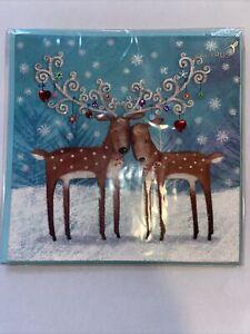 Papyrus Christmas Card - Reindeer Couple