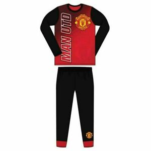Boys Authentic Official Manchester United FC Pyjamas MUFC  Childs Age 4-12 Years