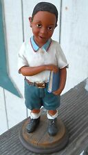 """Treasures Of The Heart """"African-American Life Boy Figurine 10"""" Tall Made In 2001"""