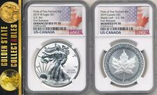 2019 PRIDE OF 2 NATIONS SET NGC REV PF/PF70'S FIRST RELEASES WHITE CORE RARE OGP
