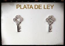 PENDIENTES LLAVE DE PLATA, Silver key earrings, LLAVE PENDIENTES PLATA DE LEY
