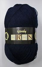 Wendy Aran With 25 Wool Yarn French Navy Shade 0475 400g Ball