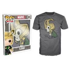 Thor - Loki Pop! T-Shirt Mens Charcoal XXL NEW Funko