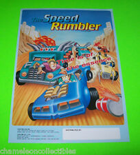 Capcom The SPEED RUMBLER 1986 Original NOS Video Arcade Game Promo Sales Flyer