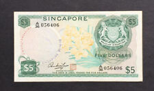 Singapore $5 Orchid 1972 (ND) Mr.Hon Sui Sen w/seal
