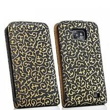 Flip case Handy Tasche Samsung I9100 Galaxy S2 SII Schwarz-Bronze Schutz Hülle