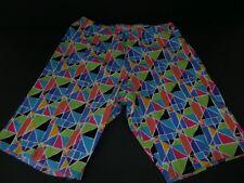 Vintage 80s Bike Shorts SZ Med Geometric Jazzercise Gymnastics NOS Scotch Maid