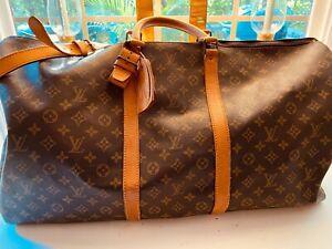 LOUIS VUITTON SHOULDER BAG DUFFEL LV TRAVEL CARRY ON LUGGAGE WEEKENDER BAG