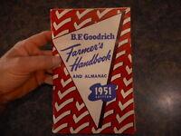 BF Goodrich Farmers Handbook Almanac 1951 Pierce Nebraska NE Vintage Advertising