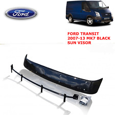 FORD Transit MK7 Sun Visor Bug Guard Solid Black Acrylic 2006-2013