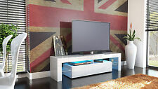 "White High Gloss Modern TV Stand Unit Media Entertainment Center ""Lima"""
