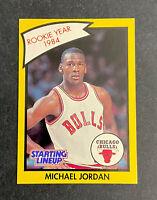 1990 Kenner Starting Line up MICHAEL JORDAN Rookie of Year Basketball Card