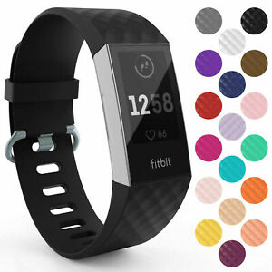 For Fitbit Charge 3 4 Strap Replacement Wristband Metal Buckle Small Large