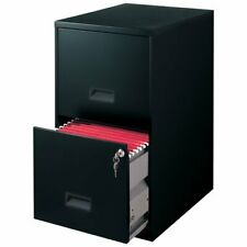 Filing Cabinet 2 Drawer Steel File Cabinet With Lock Color Black New