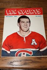 Les Sports Magazine - Novembre 1954 - Maurice Richard cover (French)