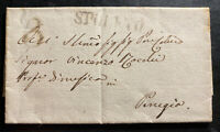 1857 Spoleto Austria Lombardy Venetian Stampless Letter Cover To Perugia