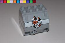 Lego Duplo - Anhänger Aufsatz - Milchtank Container - LKW Trecker Eisenbahn