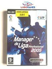 Manager De Liga 2005 PC Nuevo Precintado Retro Sealed Videojuego PAL/SPA