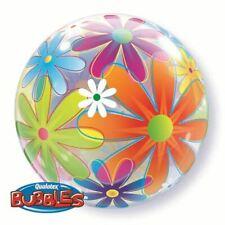 Ballon BUBBLES Qualatex 56cm de diamètre Fleurs Multicolores