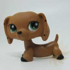 Littlest Pet Shop Collection LPS Brown Dachshund Puggy Dog Figure Toys B1