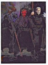 2004 Topps Star Wars Heritage Etched Foil #4 Darth Maul