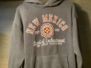 Prairie Mountain Men's XXL Gray NEW MEXICO Sweatshirt HOODIE HEAVY WARM
